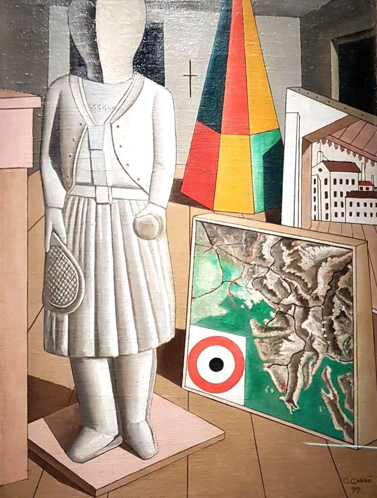 """""""La Musa Metafisica"""", 1977. Olio su tela, 90x66 cm"""