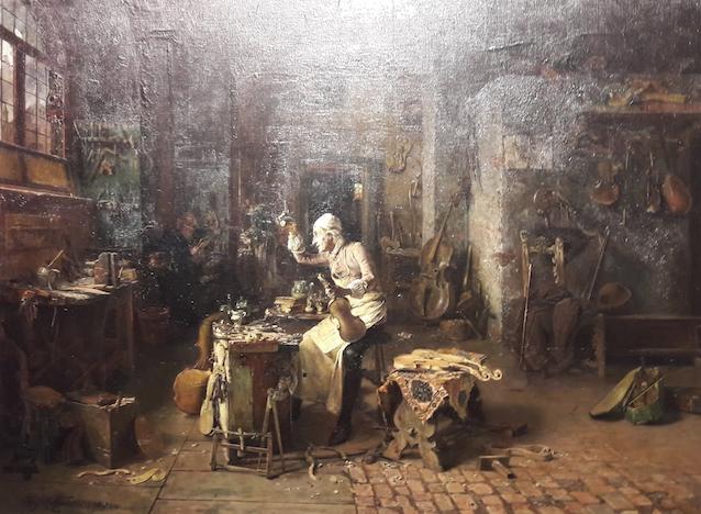 Alessandro Rinaldi-La bottega di Antonio Stradivari-1886