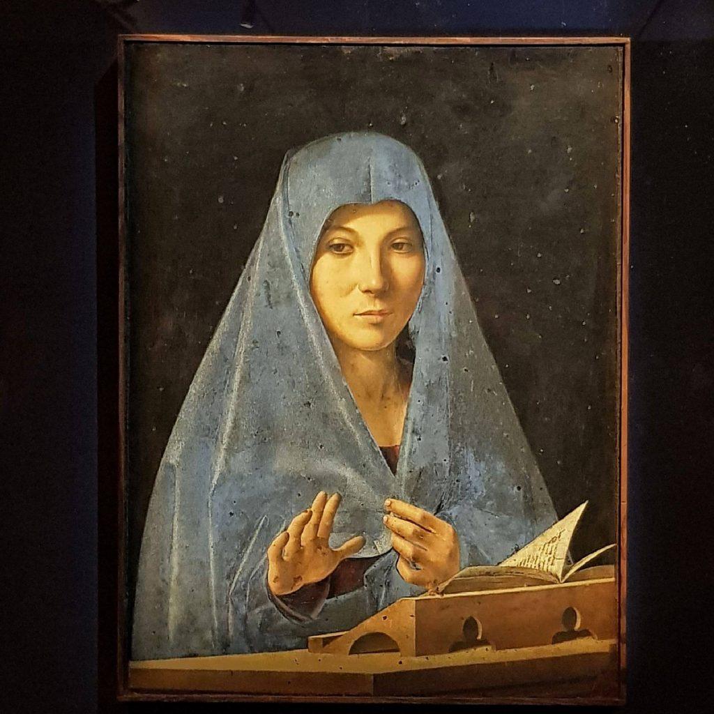 Immagine dell'Annunciata di Antonello da Messina in mostra a Palazzo Reale a Milano
