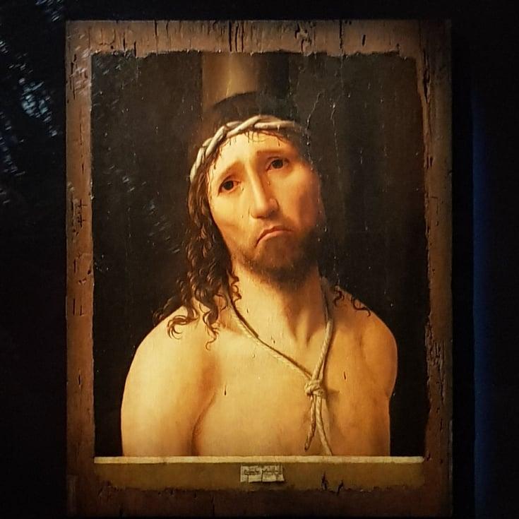 """Immagine dell'""""Hecce HomoW di Antonello da Messina in mostra a Milano"""