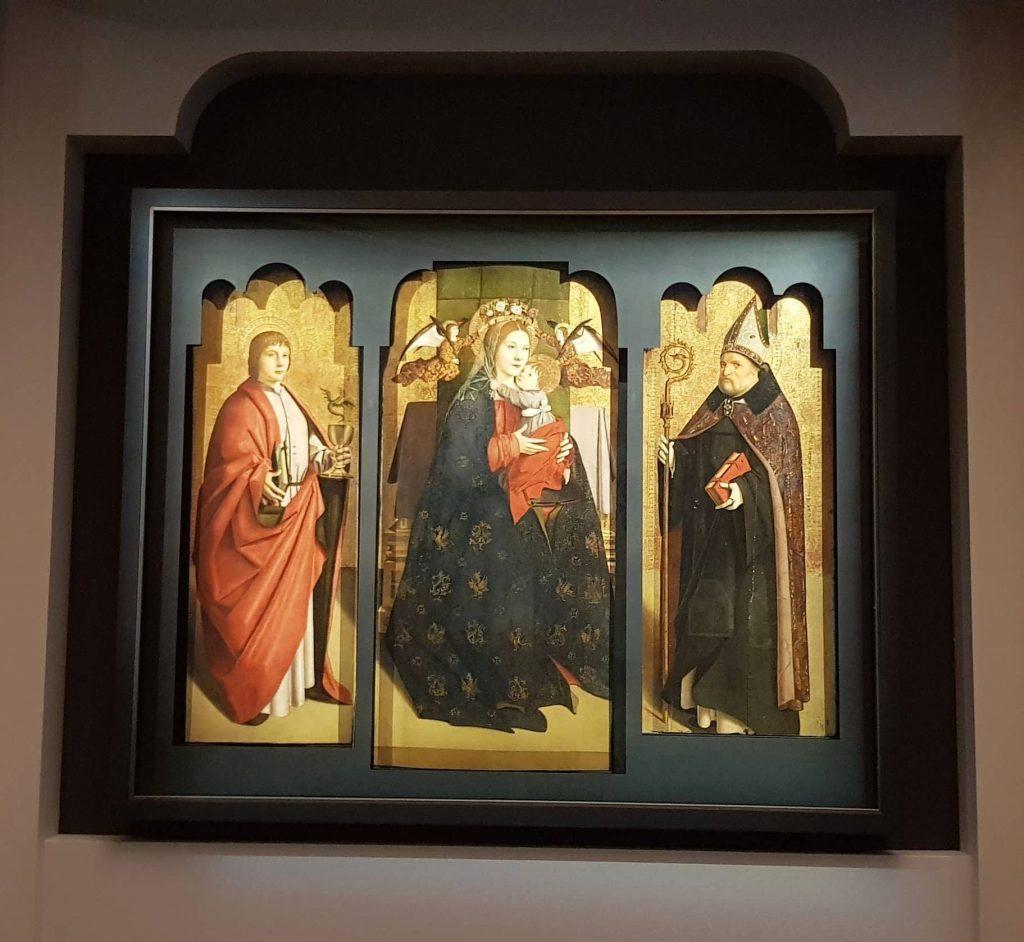 Immagine del Polittico dei Dottori della Chiesa di Antonello da Messina in mostra a Milano a Palazzo Reale