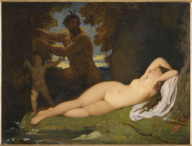 Dipinto olio su tela Giove e Antiope di Jean-Auguste-Dominique Ingres