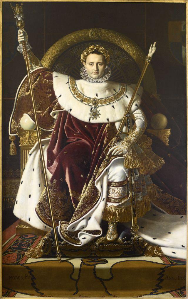 Immagine del dipinto di Ingres Ingres, Napoleone sul trono imperiale, olio su tela