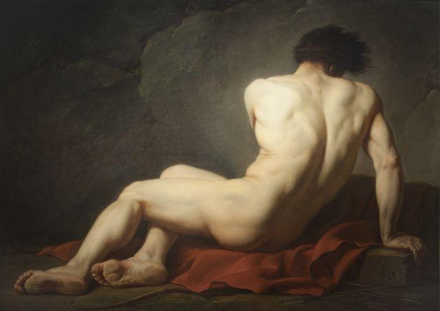 Immagine del dipinto olio su tela di Ingres Nudo maschile detto Patroclo
