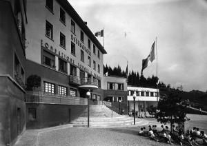 Il padiglione centrale di Sciesopoli negli anni '30