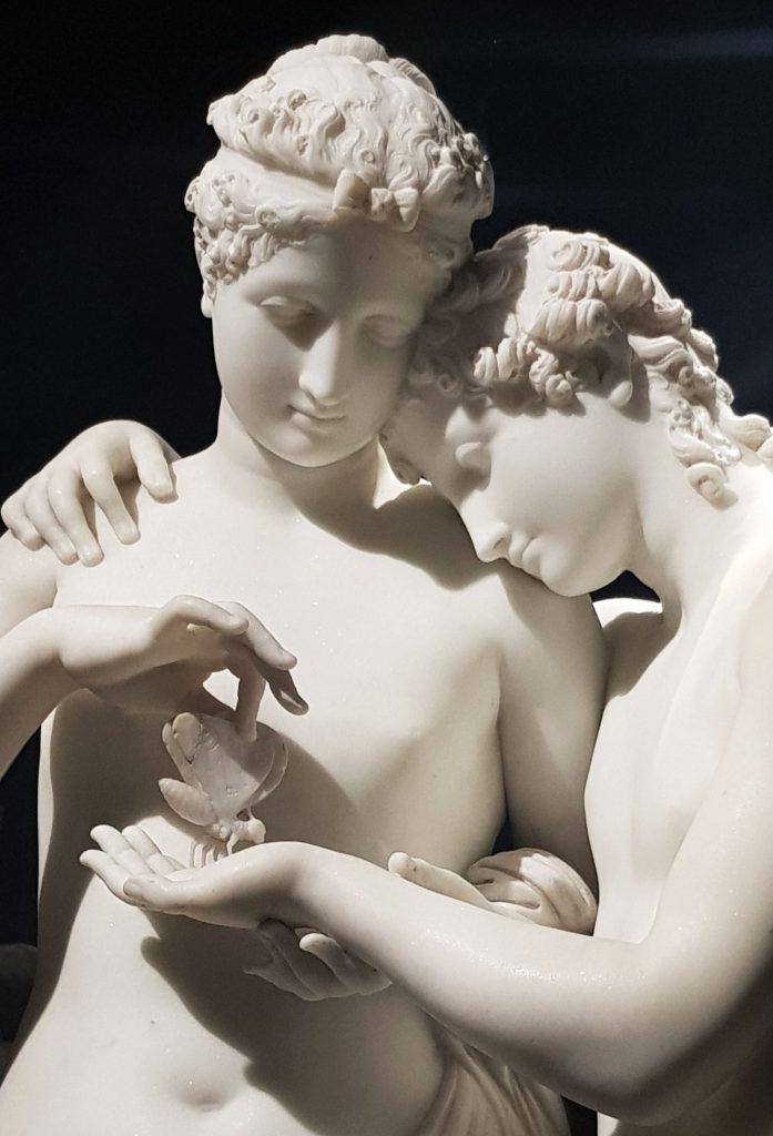 Antonio Canova, Amore e Psiche stanti, 1796-1800, dal Museo dell' Ermitage di San Pietroburgo